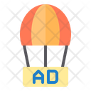 Ad on balloon Icon