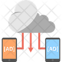 Ad Sharing Cloud Advertising Cloud Based Mobile Media Icon