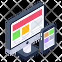 Responsive Design Adaptive Design Responsive Web Icon