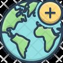 Add Earth Planet Icon