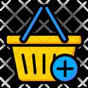 Basket Plus Basket Shopping Icon