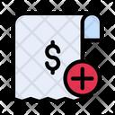 Invoice Add Receipt Icon