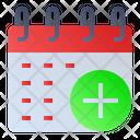 Add Calendar Date Icon
