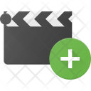 Clapper Add Clip Icon