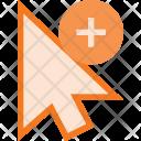 Arrow Add Pointer Icon