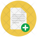 Add Document Paper Icon