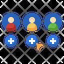 Add Friend Add User Group Icon