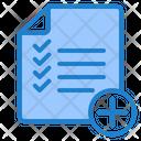 Add List To Do List Working List Icon