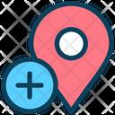 Pin Marker Plus Icon