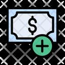 Cash Dollar Add Icon