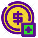 Coin Add Banking Icon