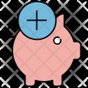 Add Money Piggy Icon