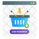 Add To Basket Shopping Bucket Shopping Basket Icon
