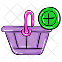 Add To Basket Shopping Bucket Shopping Icon