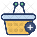 Add To Basket Picnic Basket Shopping Bucket Icon