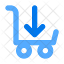 Cart Down Shopping Ecommerce Icon