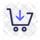 Cart Shop Down Icon