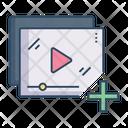 Add Video Playlist Video List Icon