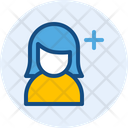 Add Woman User Icon