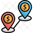 Additional Opportunities Distance Location Pins Icon