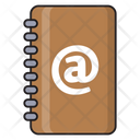 Addressbook Email Diary Icon
