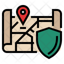 Address Protection Map Protection Secure Address Icon