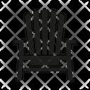 Adirondack chair Icon