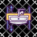 Adjustable Height Sink Icon