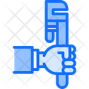 Adjustable Wrench Hand Icon