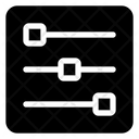 Adjustment Parameters Setting Icon
