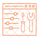 Webpage Setting Control Icon