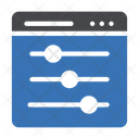 Webpage Graph Adjustment Icon