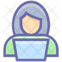 User People Laptop Icon
