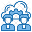 Admin Cloud System Online Icon