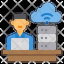 Admin Cloud Server Icon
