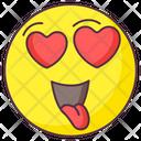 Admiring Love Emoji Admiring Love Expression Emotag Icon