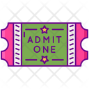 Admission Ticket Vip Pass Icon