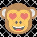 Monkey Emoji Adorable Icon