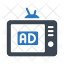 Ads Tv Digital Icon