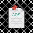 Attach Pin Ads Icon