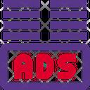 Ads Bottom Margin Advertising Advertisement Icon