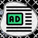 Ads Center Left Margin Online Advertising Advertising Icon
