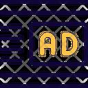 Ads Center Right Margin Online Advertising Advertising Icon