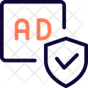 Ads Check Shield Advertising Shield Advertising Protection Icon