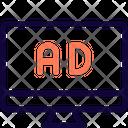 Ads Desktop Online Advertising Advertising Icon