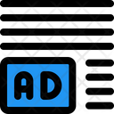 Ads Left Corner Margin Online Advertising Advertising Icon
