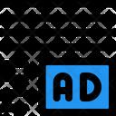 Ads Right Corner Margin Online Advertising Advertising Icon