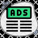 Ads Top Margin Advertising Marketing Icon