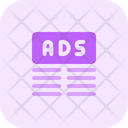 Ads Top Margin Two Icon
