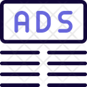 Ads Top Margin Two Ads Advertising Icon